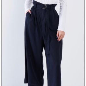 Pants - avy High Waisted Wide Leg Office Chic Gaucho Pants